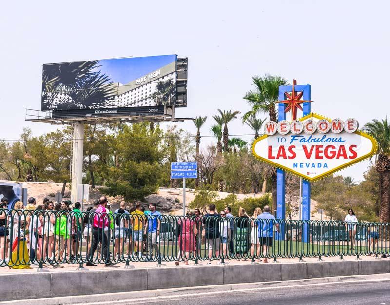 Coda all'ingresso di Las Vegas