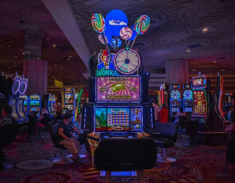 Interno del casinò MGM a Las Vegas