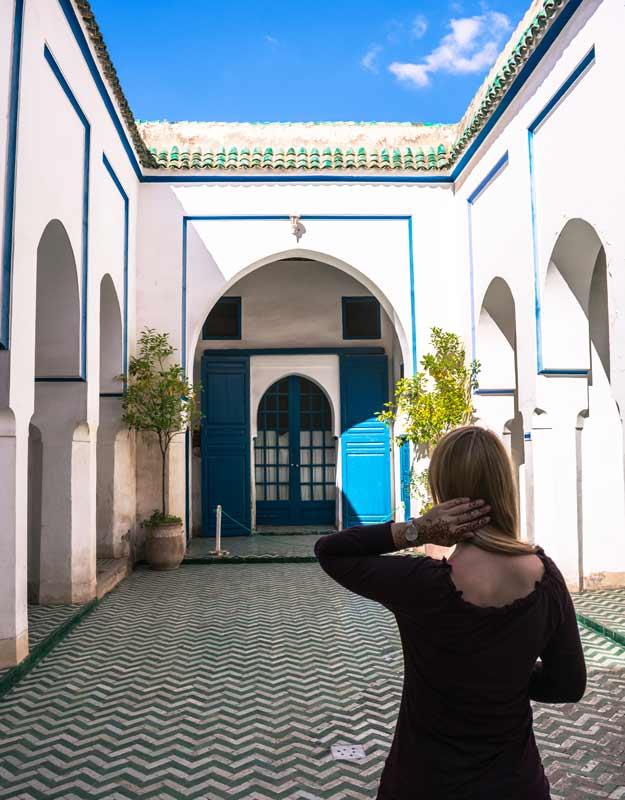 Itinerario a piedi per Marrakech: palazzo Bahia