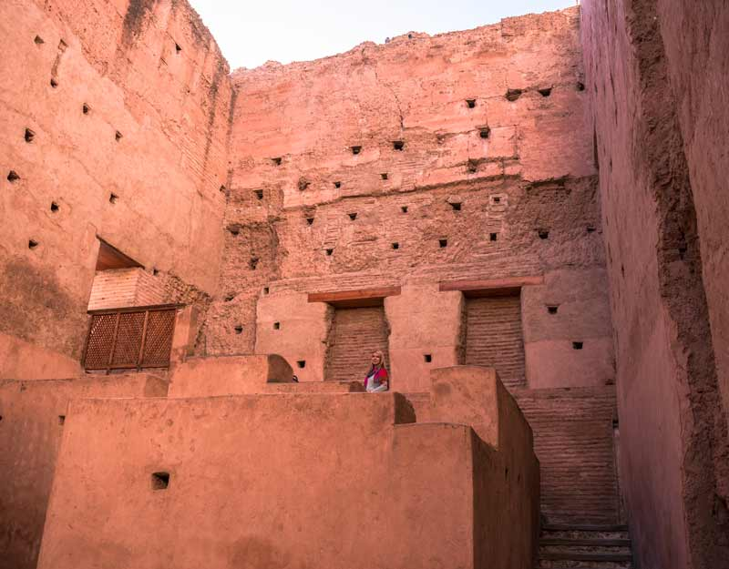 Itinerario a piedi per Marrakech: palazzo El Badi