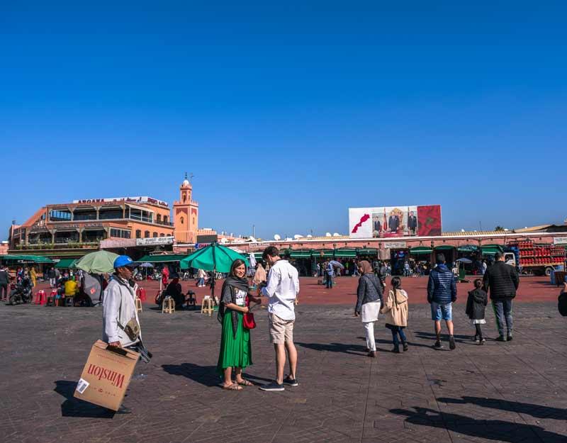 Marrakech in due giorni: piazza Djemaa El-Fna
