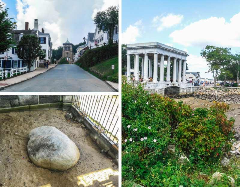La pietra dei Padri Pellegrini a Plymouth