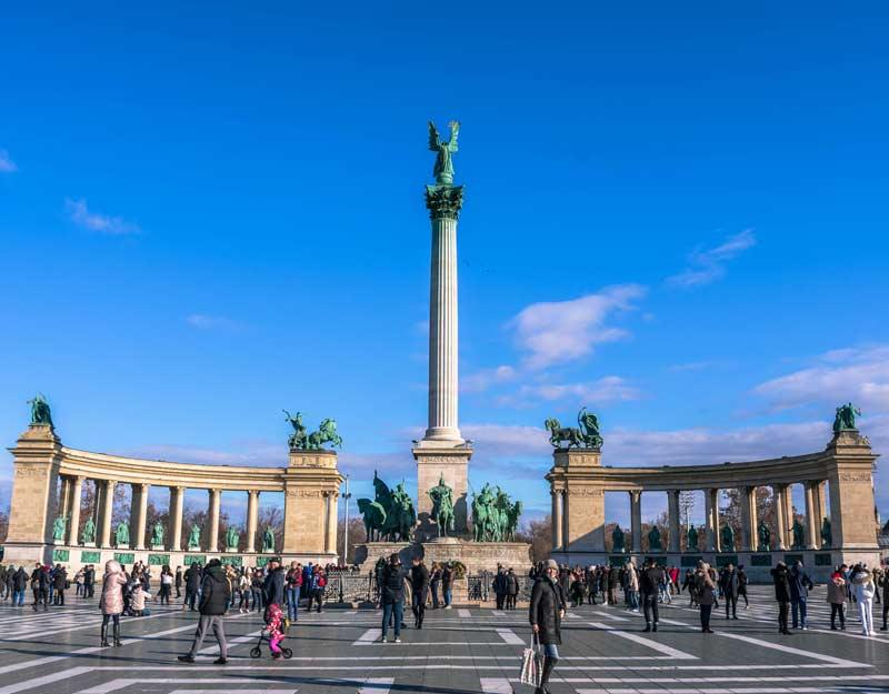 Budapest in 2 giorni: piazza degli Eroi
