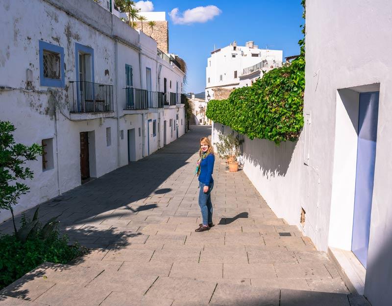 Ibiza ad aprile: strade di Dalt Villa
