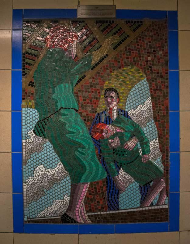 Mosaici di Leytonstone a Londra