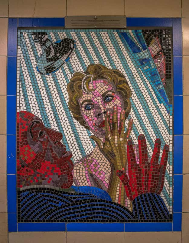 "Mosaico di ""Psycho"" a Leyonstone a Londra"