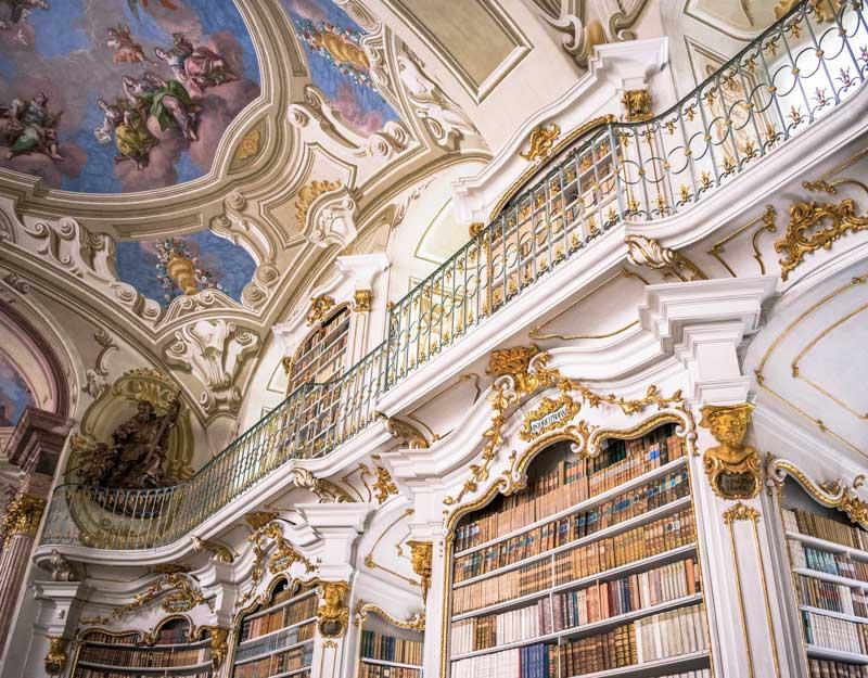 Particolare della biblioteca di Admont