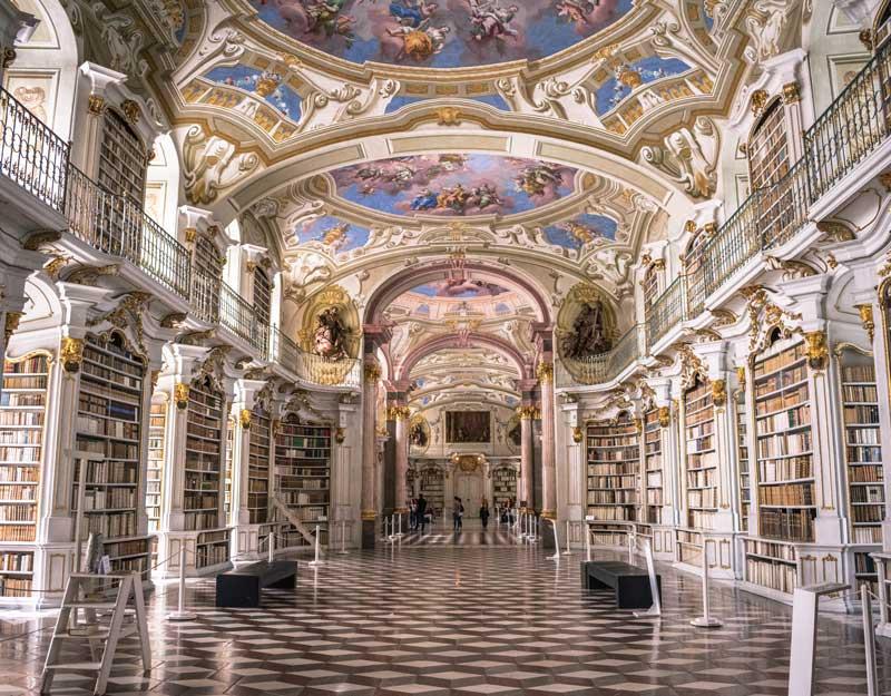 Visitare la biblioteca di Admont