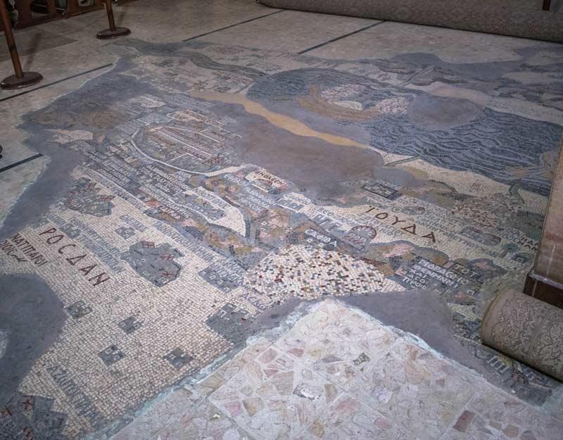 La mappa mosaico di Madaba