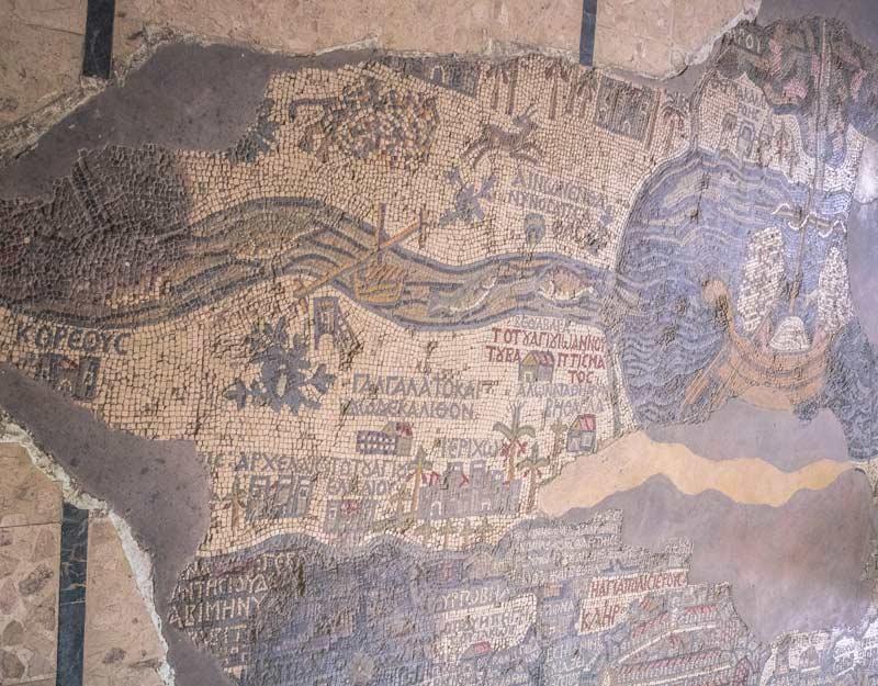 La mappa della Terra Santa di Madaba