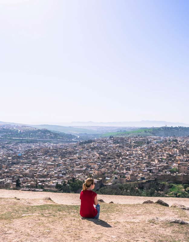 Panorama dalle tombe dei Merinidi a Fez