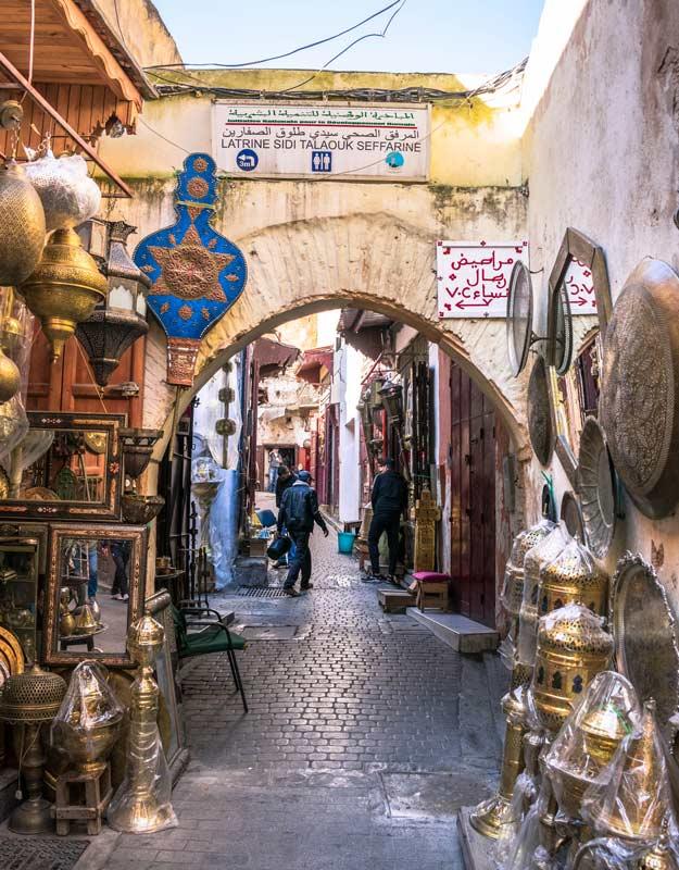 Visitare il souk di Fez