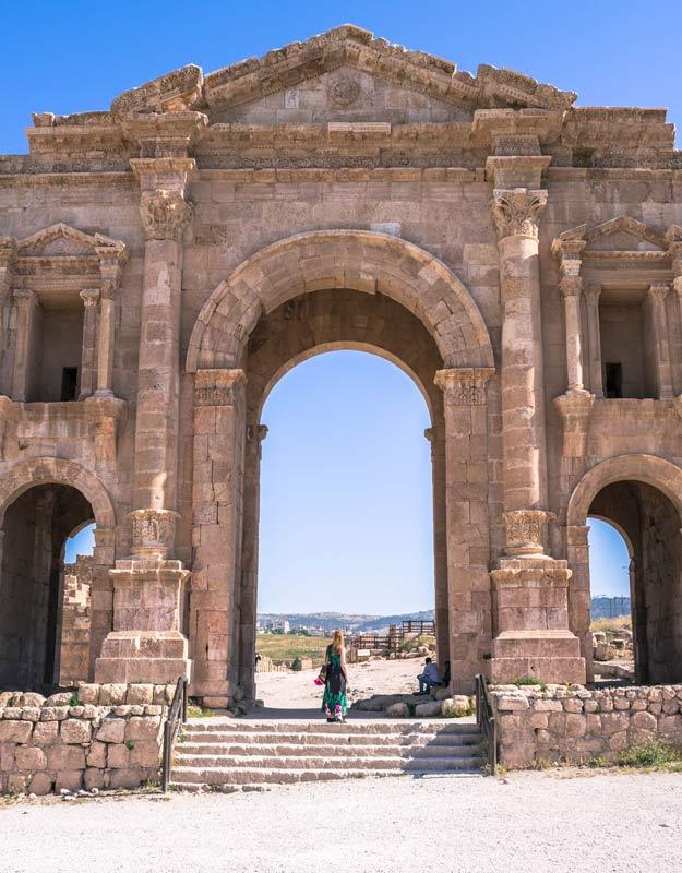 Arco di Adriano a Jerash