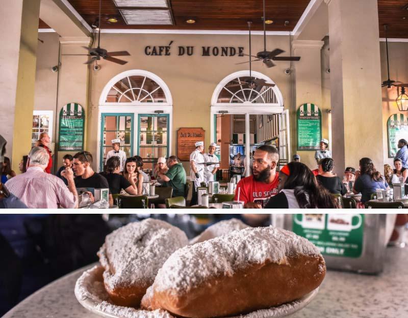 Mangiare beignets al Cafe du Monde