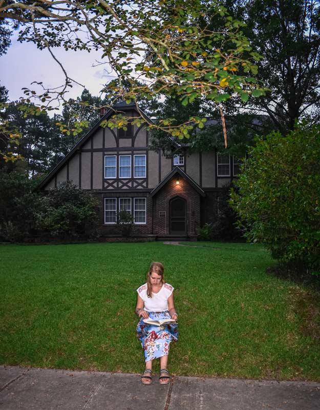 Giardino della casa di Eudora Welty a Jackson
