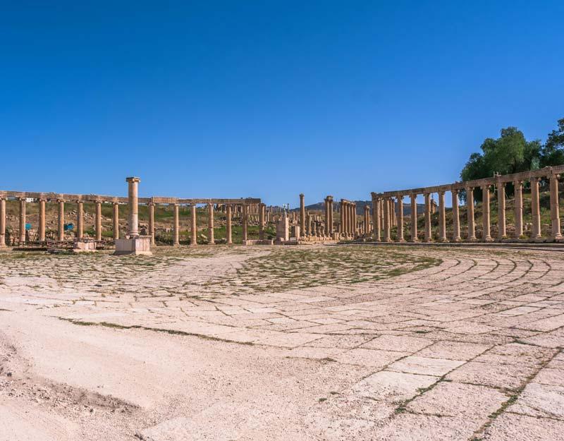 Piazza Ovale a Jerash