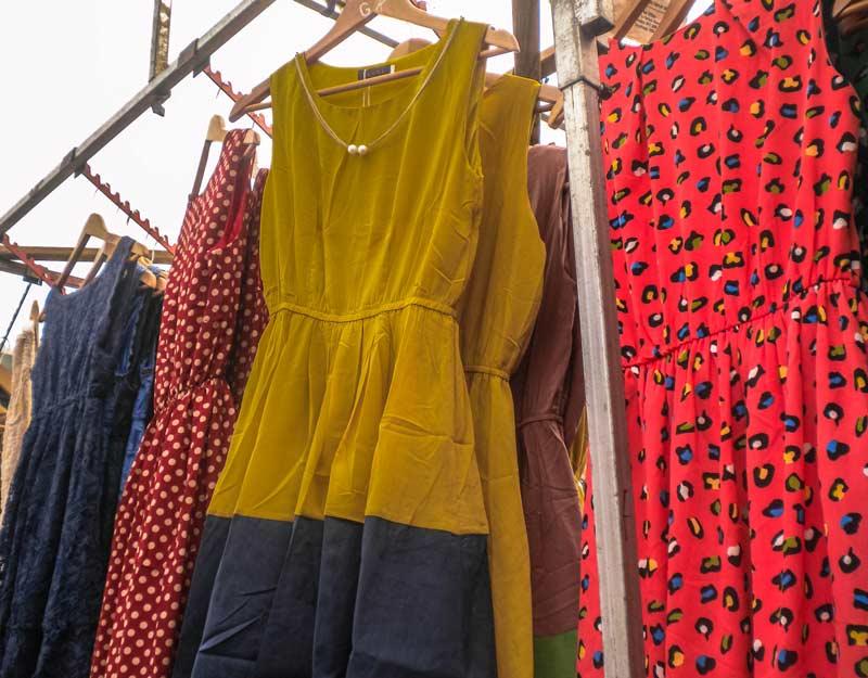 Abbigliamento nei mercati di Londra