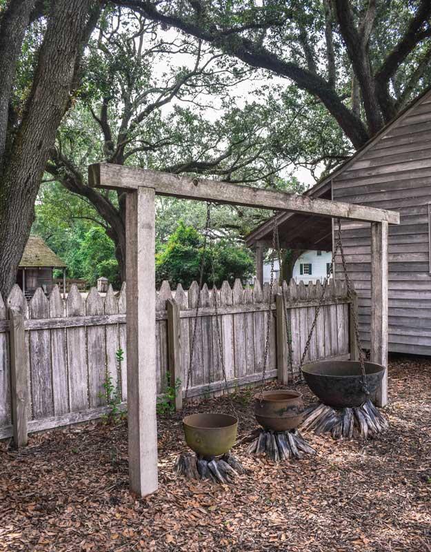 Cucina degli schiavi a Oak Alley