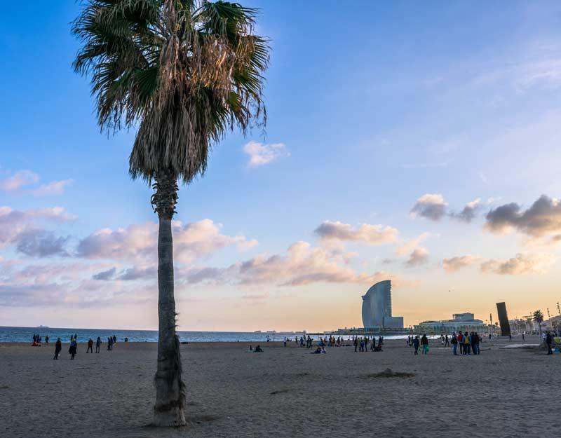 Spiaggia di Barceloneta a Barcellona