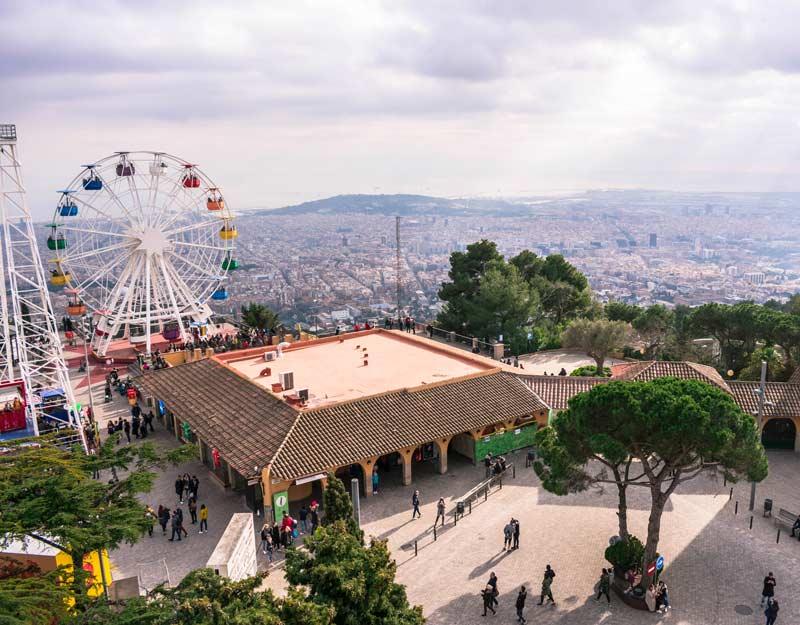 Vista dal Tibidabo a Barcellona