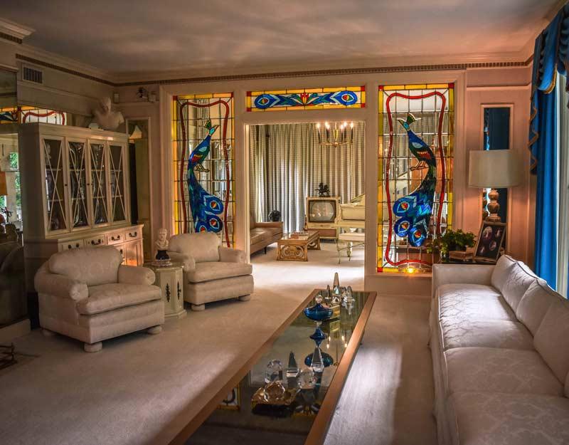 Salotto di Graceland a Memphis