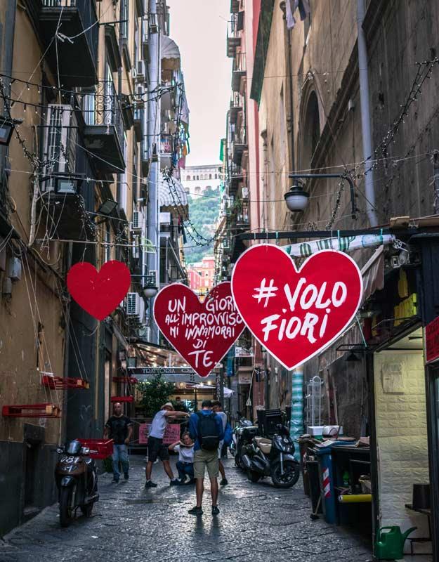 Quartieri spagnoli a Napoli